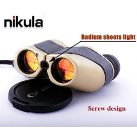 Nikula LLL led night vision Radium shoots light 50x25 Mini Hunting Binocular Telescope (166m-1000m ) - NEW Screw design