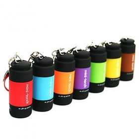 New design USB Powered Rechargeable Mini LED Flashlight Keychains (7-Pack)
