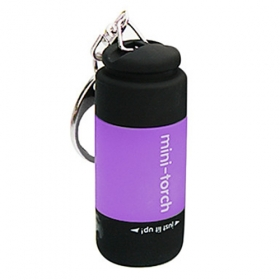 New design USB Powered Rechargeable Mini LED Flashlight portable Keychains- Purple