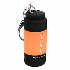 New design USB Powered Rechargeable Mini LED Flashlight portable Keychains- Orange