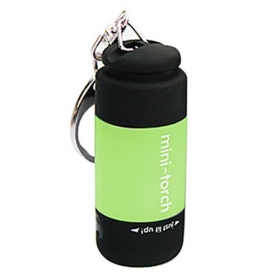 New design USB Powered Rechargeable Mini LED Flashlight portable led Keychains- Green