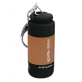 New design USB Powered Rechargeable Mini LED Flashlight portable led Keychains - Brown