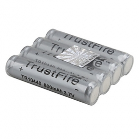 TrustFire Protected TR 10440 3.7V 600mAh Rechargeable Li-ion Batteries (4 pcs)