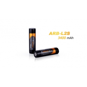 Fenix ARB-L2S 3.6V 3400mah 18650 lithium battery (2 pc)