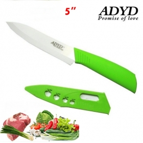 "ADYD 5"" Ceramic Knives Eco-friendly health Zirconia kitchen Fruits Ceramic Knives for Modern Kitchen -green"