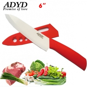 "ADYD 6"" Ceramic Knives Eco friendly health Zirconia kitchen Fruits Ceramic Knives for Modern Kitchen -Red"