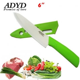 "ADYD 6"" Ceramic Knives Health Eco-friendly Zirconia kitchen Fruits Ceramic Knives for Modern Kitchen -green"