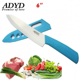 "ADYD 6"" Ceramic Knives Health Eco-friendly Zirconia kitchen Fruits Ceramic Knives for Modern Kitchen -Blue"