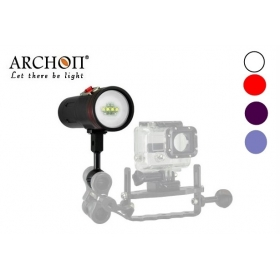 ARCHON D34VR (W40VR) 4 Color 2400 lumens Colorful Biright Diving Video Light Diving Light flashlight