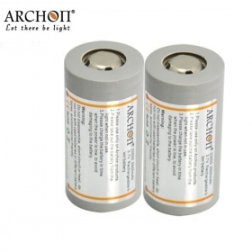 ARCHON Newly Designed 32650 Battery Rechargeable Li-ion 32650 5500mAh 3.7v Protected Battery (Explosion-proof battery)-2 pcs