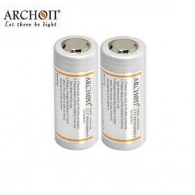 ARCHON Newly Designed 26650 Battery Rechargeable Li-ion 26650 4000mAh 3.7v Protected Battery (2 pcs)