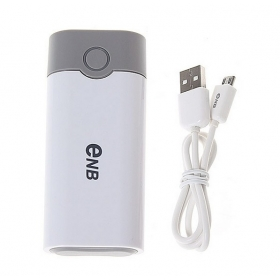 2014 ENB new SMART USB Emergency Charger Power Bank box Shell for iPad 2 / iPhone / MP3/4 With USB Data Cable- white