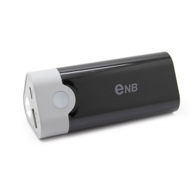 ENB NEW SMART USB Emergency Charger Power Bank w/ Q5 LED flashlight for iPhone 5/4S/ Samsung/ Nokia/ Blackberry -black