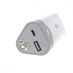 ENB NEW SMART USB Emergency Charger Power Bank w/ Q5 LED flashlight for iPhone 5/4S/ Samsung/ Nokia/ Blackberry -white