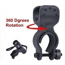 AloneFire LC-1 360 Degree Rotation Cycling Bicycle Mount Holder Clamp for Flashlight Torch - Black