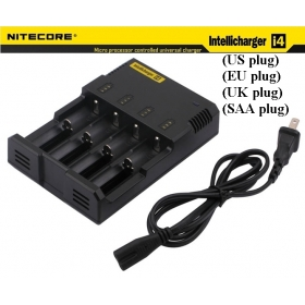 NITECORE Intellicharge i4 Microcomputer Controlled Intelligent Charger Li-ion/NiMH/Ni-Cd Battery Charge