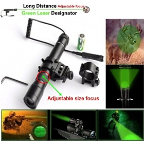 BOB G25 Adjustable focus Hunting Long Distance Green Laser flashlight Sight Designator (Operating Temperature:0~45 Celsius)