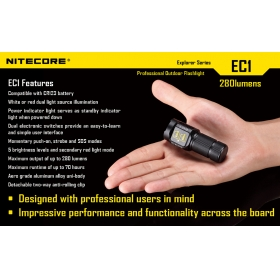 NiteCore EC1 Explorer CREE XP-G R5 5 Mode LED Flashlight