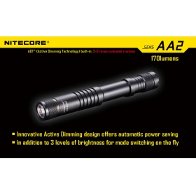Nitecore SENS AA2 CREE XP-G (R5) 170 lumens LED Flashlight led torch