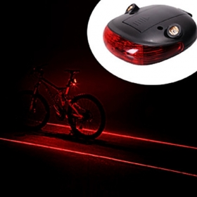 BL002 Waterproof Bicycle Laser Tail Light 2 Lasers + 5 LEDs Bike Safety Red Rear Warning Light Cycling Safety Caution Lamp