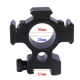 1PC MD3002 Rifle Scope Mount Overall Long Outdoor Hunting Ring 25.4mm Tactical Hunting Rail Mount