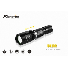AloneFire GLADIATOR Series BK108 CREE XM-L T6 LED 5 mode portable Zoomable led flashlight torch