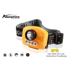 AloneFire HP15 CREE XP-E Energy saving LED 230lumens 1 LED+2 LED Infrared sensing headlamps