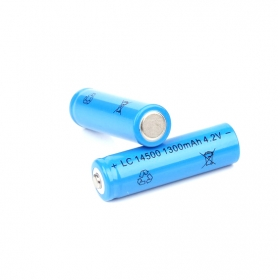 UltraFire High performance LC14500 1300mAh 3.7V-4.2V Li-ion Rechargeable Battery - (2 PCS)