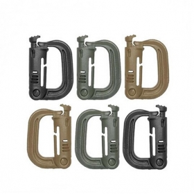 D Shape High Strength Plastic Mountaineering Buckle knapsack Buckle For outdoor packsack Hook