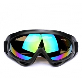 Ski Exercise Goggle Tactical Airsoft Goggles Men Frame Shooting Eyewear Windproof Glasses - colorful lens