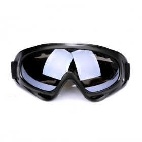 Ski Exercise Goggle Tactical Airsoft Goggles Men Frame Shooting Eyewear Skiing Windproof Glasses - Black ash lens
