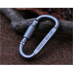 Hard aluminum alloy mountaineering buckle multi-purpose tool hang buckle keychains key ring chain