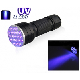 AloneFire NEW 21LED UV Light 395-400nm LED UV Flashlight-black