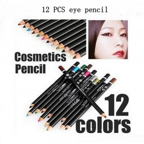 12pcs New Professional makeup eyeliner pencil multicolor