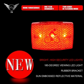 IDS001 Bicycle LED Lamp/Red Bicycle lights For bicycle,electric car,motorcycle Red Flash Safety Caution Lamp
