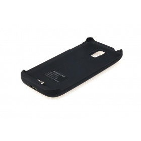 S5C 1PC 4800mAh with Top Cover External Backup Battery Case For Samsung Galaxy SV S5 i9600-Black