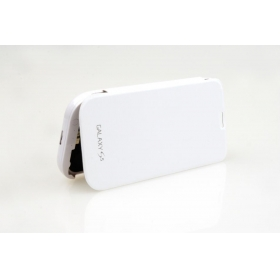 S5H Hight capacity 4800mAh with Top Cover External Backup Battery Case For Samsung Galaxy SV S5 i9600-white