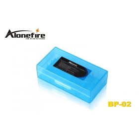 AloneFire BP-02 PP Environmental protection material battery Protective box for 2 x 18650 or 4 x CR123A/16340/18350