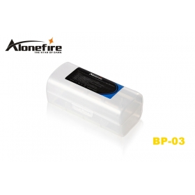 AloneFire BP-03 PP Environmental protection material battery Protective box for 1 x 26650