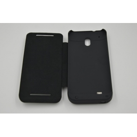 1PC 2800mAh with top cover External Backup Battery case for HTC One mini B 610E M4- Black
