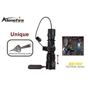 AloneFire TK104 Tactical Series CREE XM-L L2 LED 5 mode Professional Zoom tactical flashlight torch light