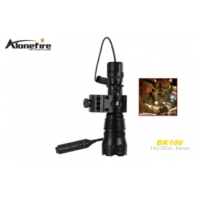 AloneFire BK106 Tactical Series CREE XM-L T6 LED 5 mode Professional tactical light flashlight torch