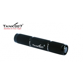 1PC TANK007 TK703 CREE Q5 1 Mode 120 lumens LED Waterproof IPX7 Torch Flashlight - Black
