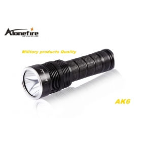 AloneFire AK6 CREE XM-L2 LED 5 mode Super upper beam irradiation flashlight torch