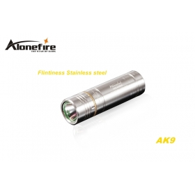 AloneFire AK9 CREE XPE R2 LED 5 mode Stainless steel Exquisite craft mini flashlight torch