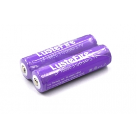 LusteFire 18650 3.7V 3100mAh protected Rechargeable Battery 18650 li-ion Battery (1 pair)