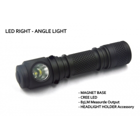 Mini led headlight Cree XR-E 85lumens LED Right Angle light