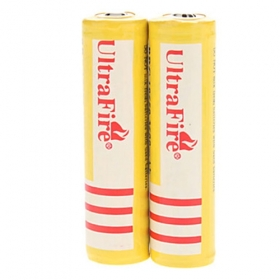 UltraFire High performance BRC18650 Red 4200mAh 3.7V Protection Rechargeable Battery (2 pc)