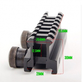 D0015 3''high Scope Adapter See-Thru See-Through Riser Base AR Dovetail Weaver Mount