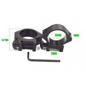 30mm Aluminum Alloy scope Mount with Wrench
